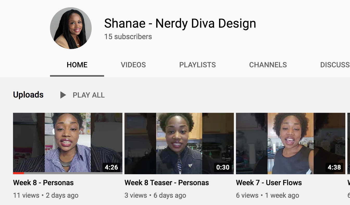 Shanae Chapman, YouTube